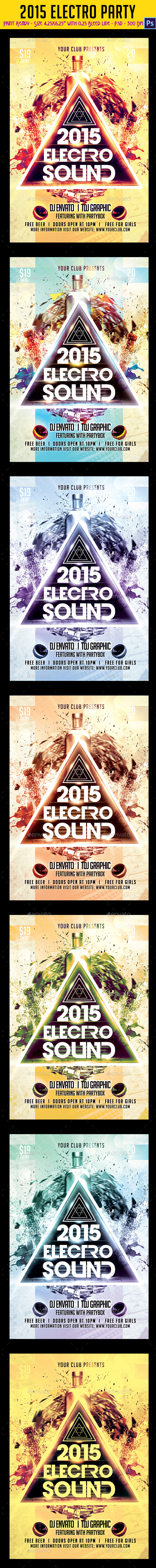 2015 Electro Party Flyer - Clubs & Parties Events