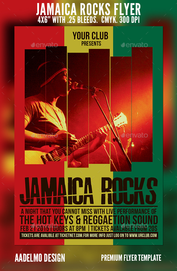 Jamaica Rocks Flyer - Concerts Events