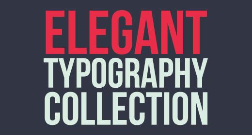 Elegant Typography Series