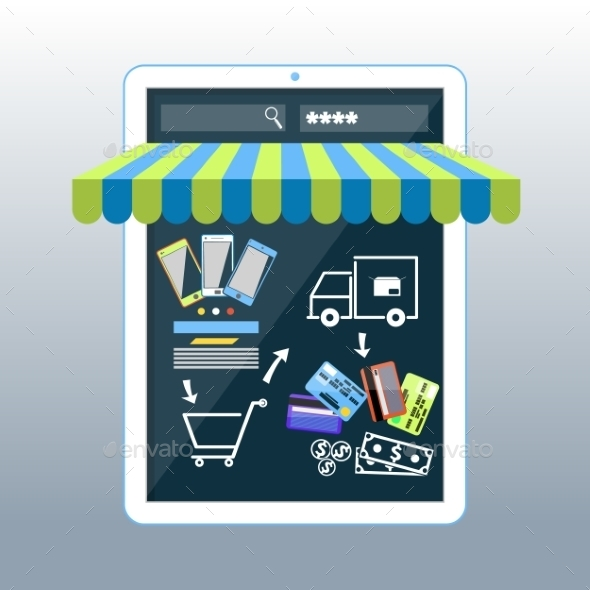 Smartphone with Awning - Retail Commercial / Shopping