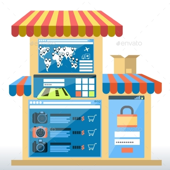 Shop with Awning - Buildings Objects