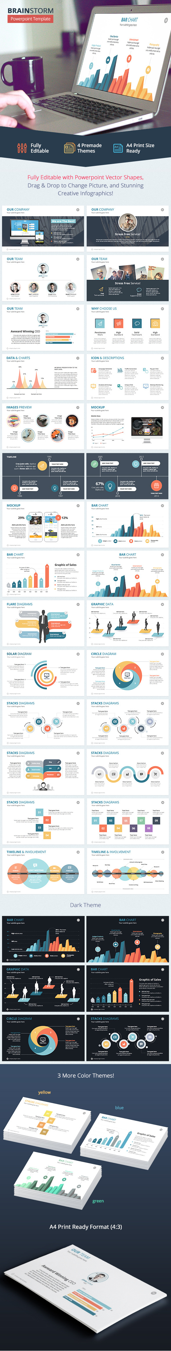 Brainstorm - Powerpoint Template - Abstract PowerPoint Templates