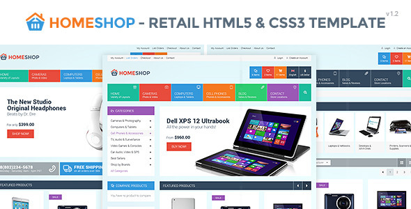 Home Shop – Retail HTML5 & CSS3 Template