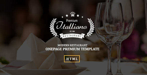Italliano – Clean Premium Restaurant Template