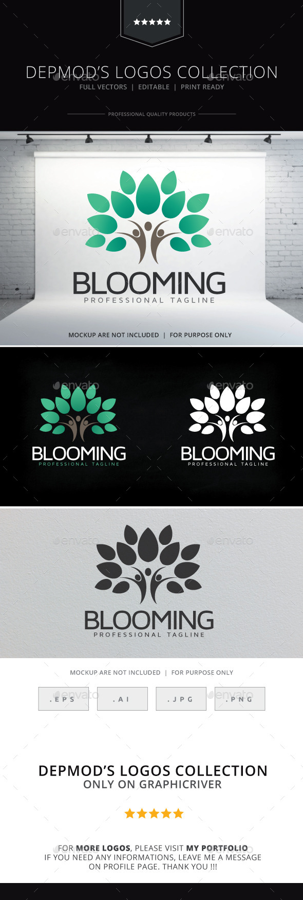 Blooming Logo - Humans Logo Templates