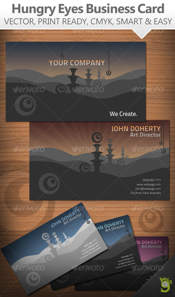 Hungry Eyes Business Card - Creative Business Cards