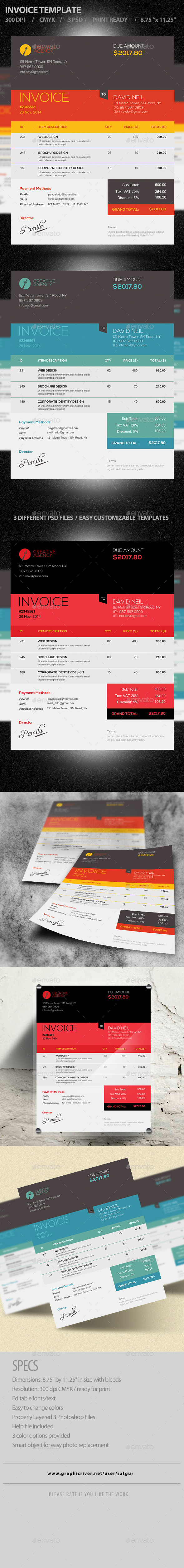 Invoice Template PSD - Proposals & Invoices Stationery