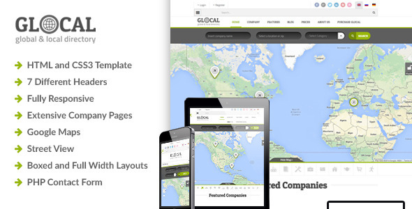 Glocal - Responsive Directory Template - Miscellaneous Site Templates