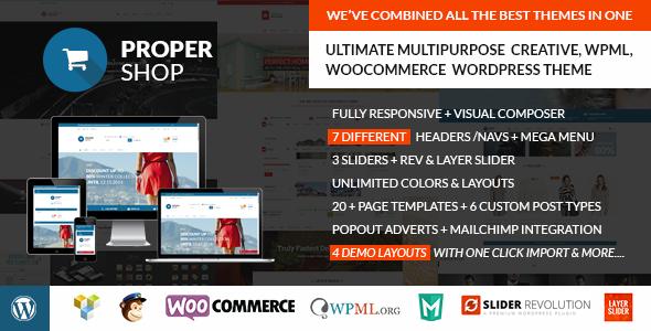 Propershop | Woocommerce WP Theme