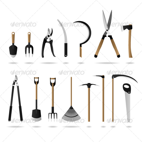 Gardening Tool Equipment Vector - Man-made Objects Objects