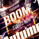 Boom Night Party Fleyr Template - GraphicRiver Item for Sale
