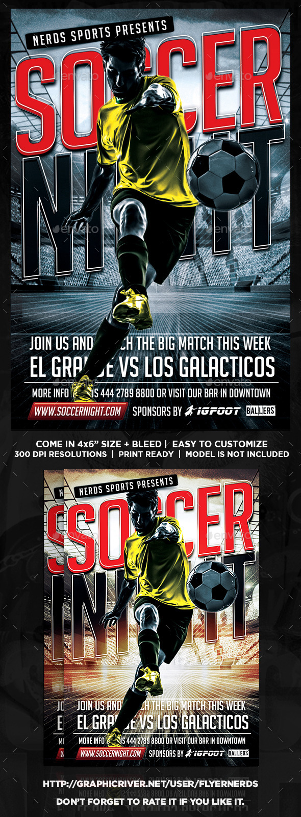 Soccer Gamer Night Flyer - Sports Events