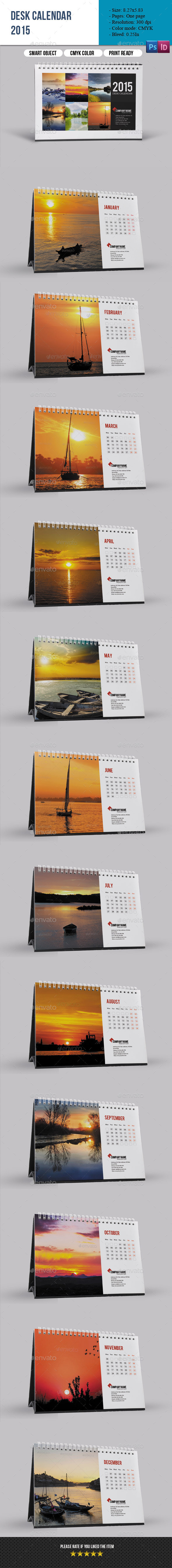 Desk Calendar 2015 - Calendars Stationery