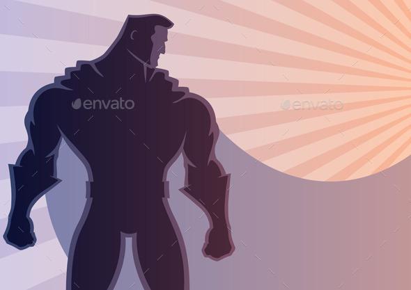 Superhero Background 2 - People Characters
