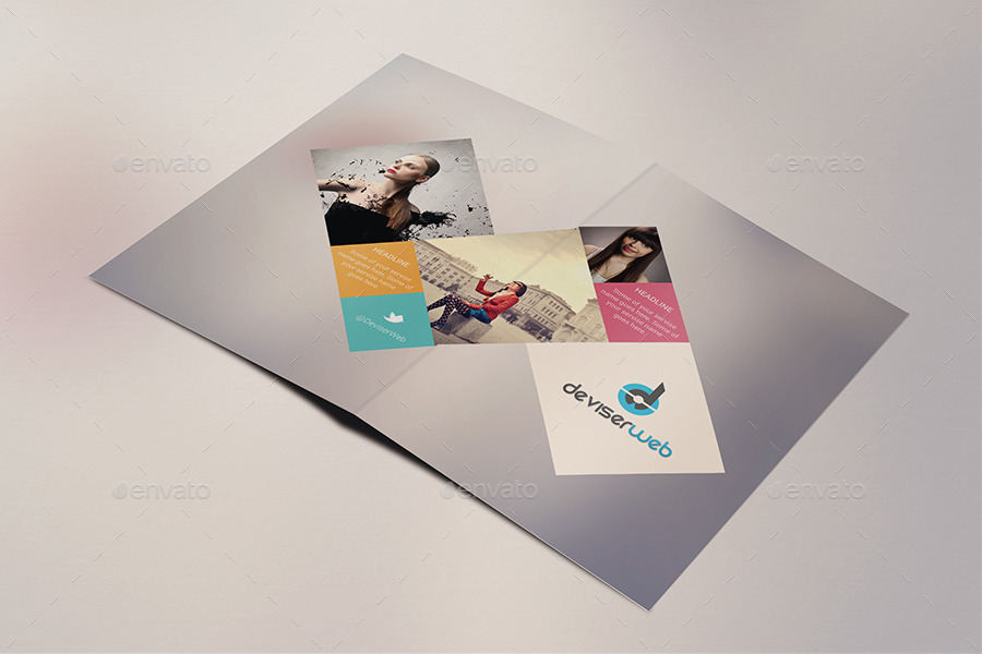Minimal Creative Bifold Brochure Templates By Rtralrayhan - Creative brochure templates