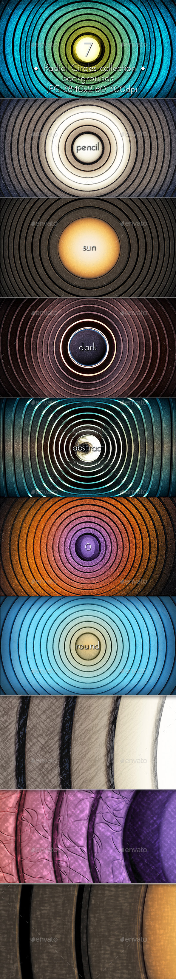 Radial Circles Pencil Background - Miscellaneous Backgrounds