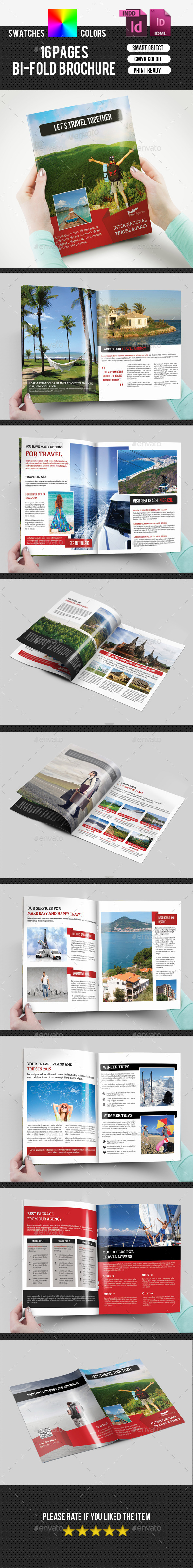 Travel Agency Bifold Brochure-V166 - Corporate Brochures