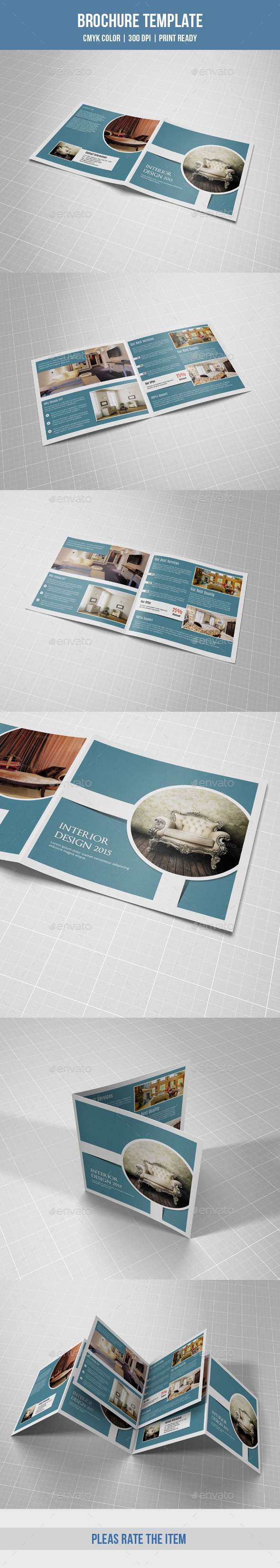 Square Bifold for Interior Design-V02 - Corporate Brochures