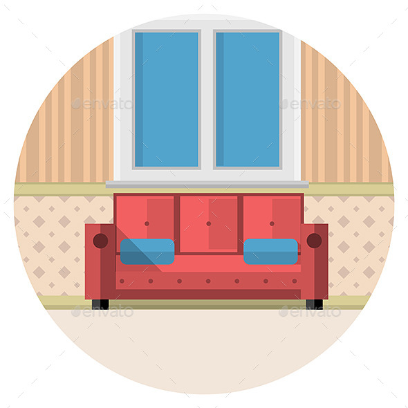 Living Room Icon - Man-made Objects Objects