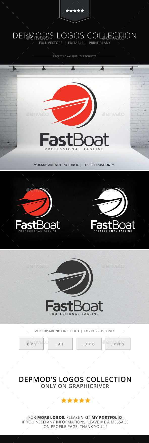 Fast Boat Logo - Objects Logo Templates