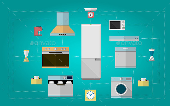 Kitchen Appliances - Man-made Objects Objects