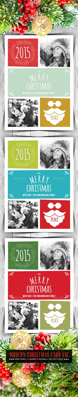 Modern Christmas Card V12 - Holiday Greeting Cards