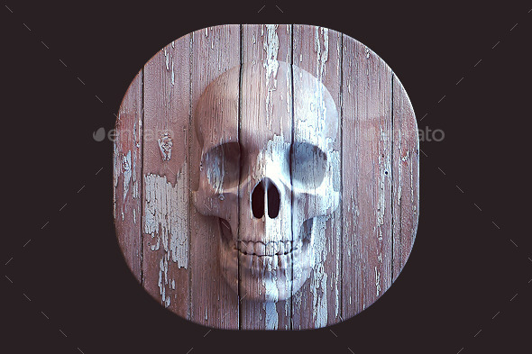 Skull Icon - 3D Backgrounds