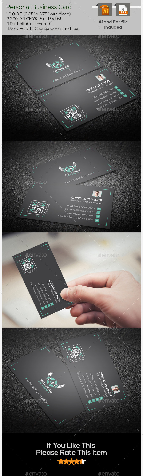Personal Corporate Business Card - Corporate Business Cards