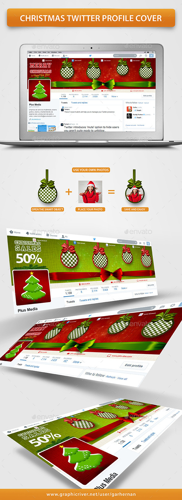 Christmas Twitter Profile Cover - Twitter Social Media