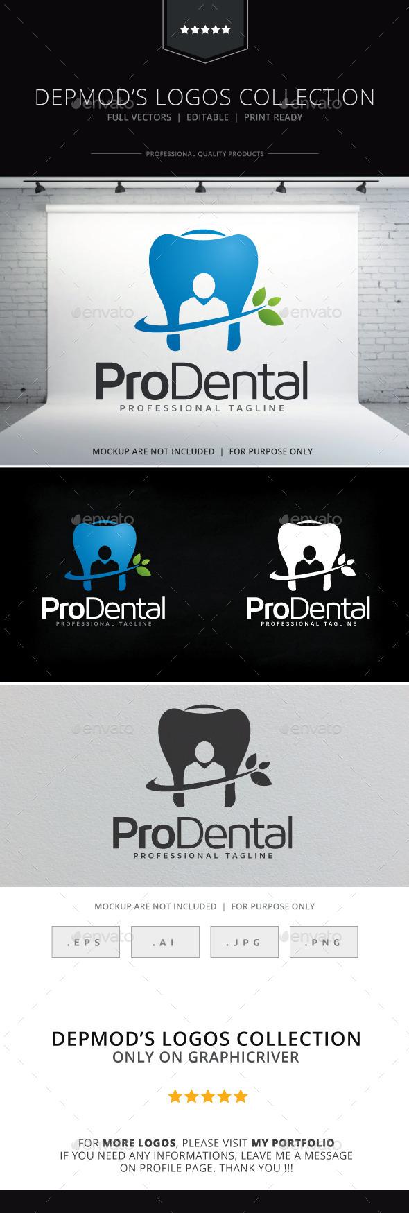 Pro Dental Logo - Symbols Logo Templates