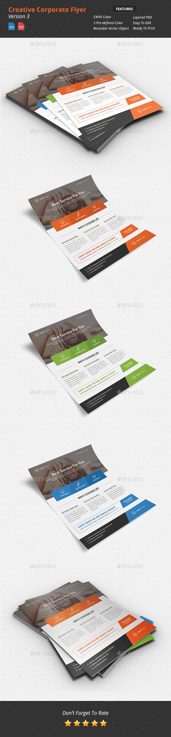 Creative Corporate Flyer v3 - Corporate Flyers