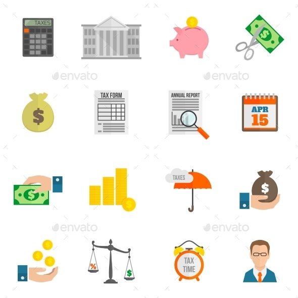Tax Icons - Business Conceptual