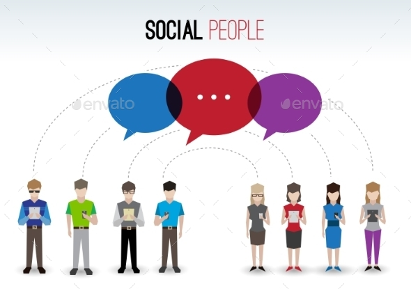 Social People Concept - People Characters