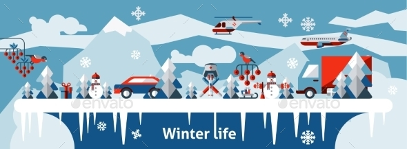 Winter Life Background - Seasons/Holidays Conceptual