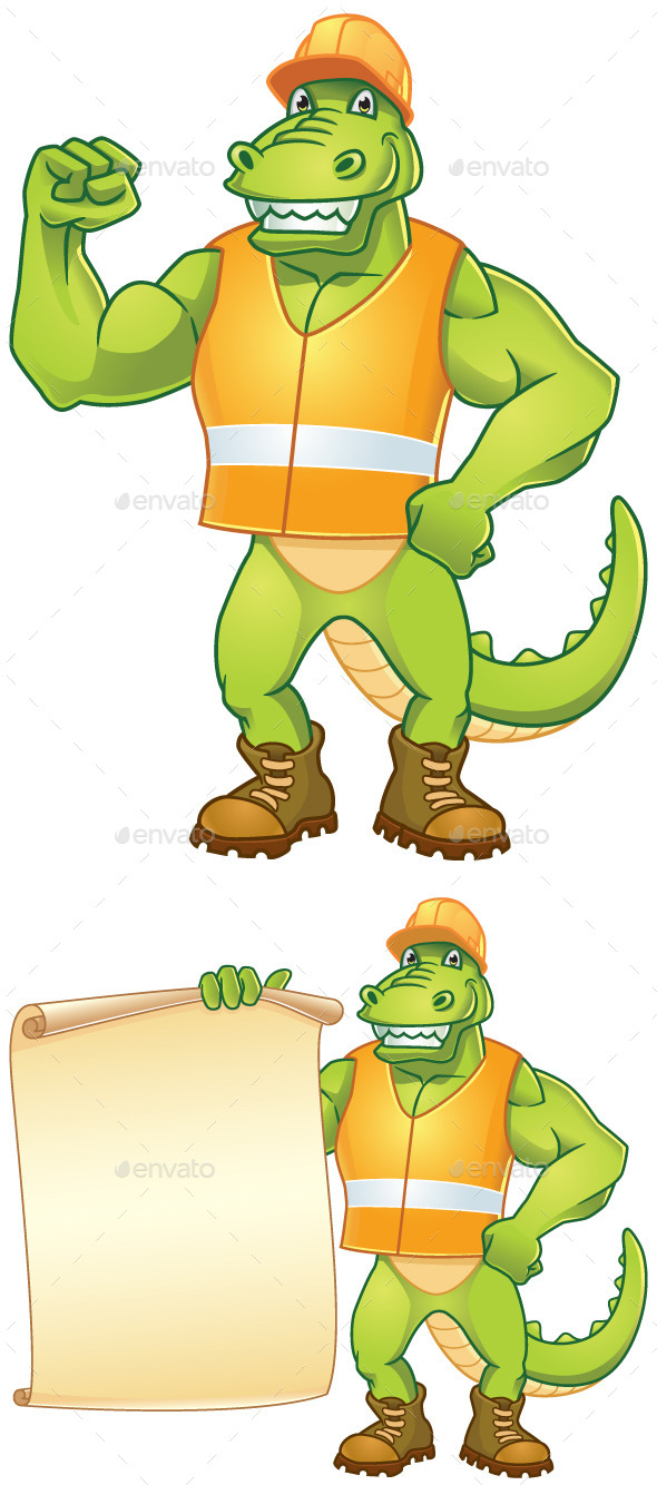 Dino Worker - Animals Characters