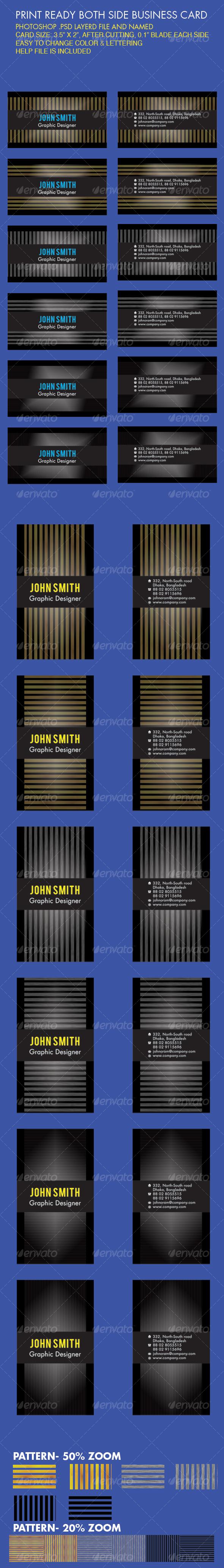 Business Card_Dark light - Creative Business Cards