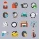 Tire Service Icon Flat - GraphicRiver Item for Sale