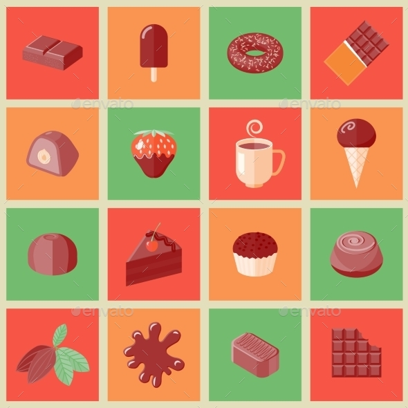 Chocolate Icons  - Web Elements Vectors