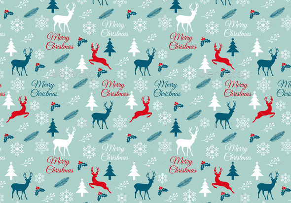 Seamless Christmas Pattern, Vector - Christmas Seasons/Holidays