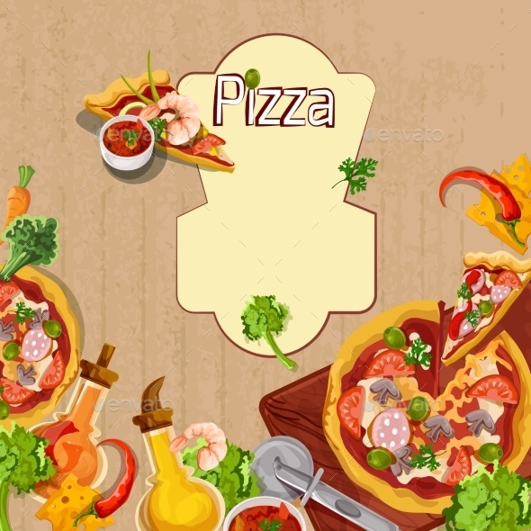 Pizza Background Template - Food Objects