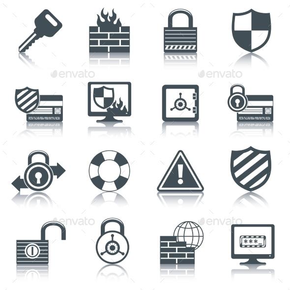 Security Icons Set - Web Elements Vectors