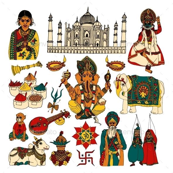 India Set - Travel Conceptual