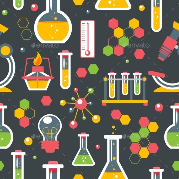 Chemistry Seamless Pattern - Backgrounds Decorative