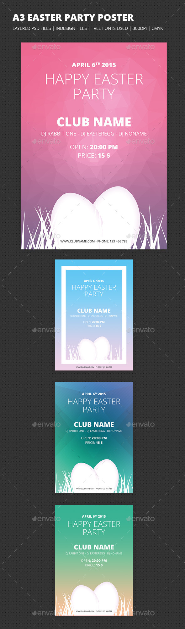 A3 Easter Party Poster - Clubs & Parties Events