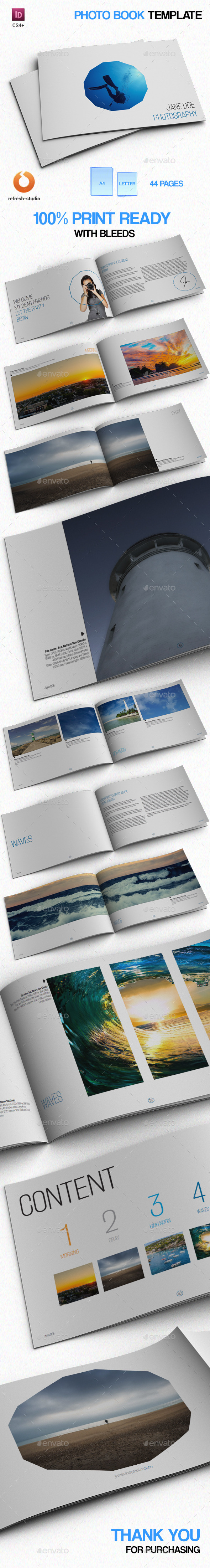 Minimal Photo Book - Photo Albums Print Templates