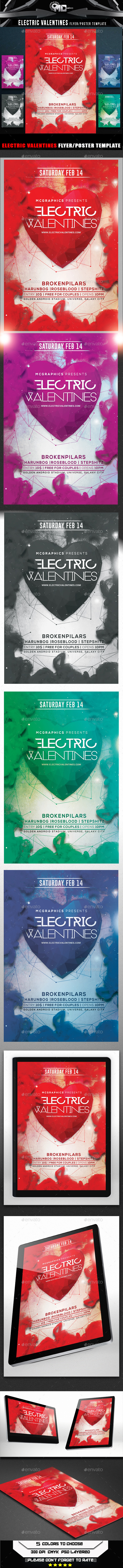 Electric Valentines - Flyers Print Templates