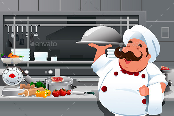 Chef in the Kitchen - Business Conceptual