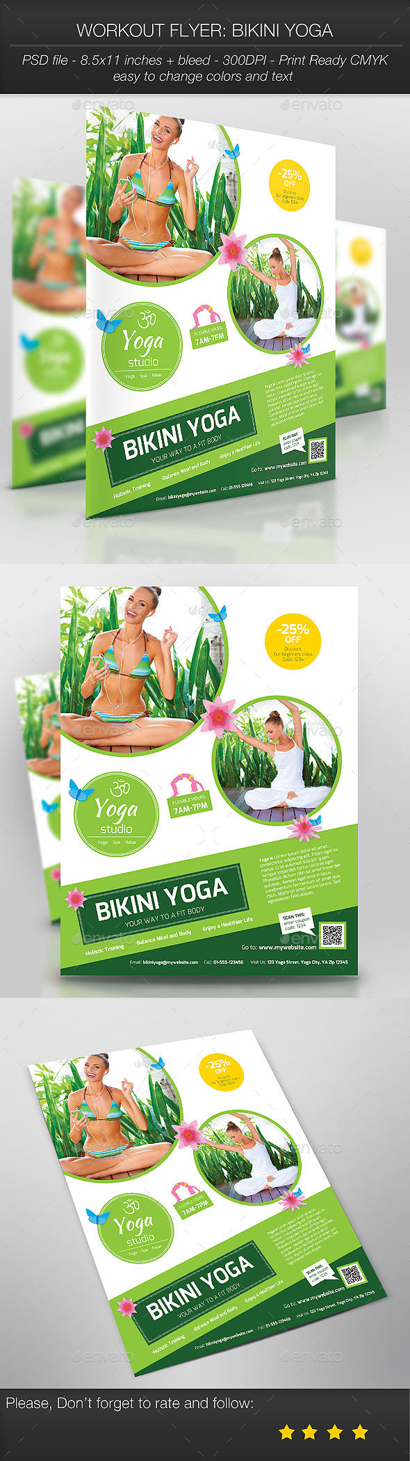 Workout Flyer: Bikini Yoga - Sports Events