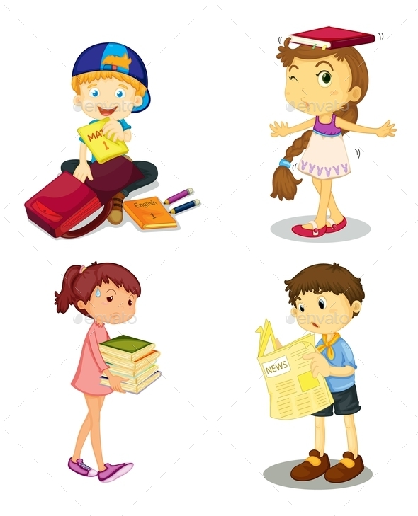 Kids and Books - People Characters