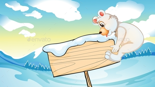 Winter Landscape - Animals Characters